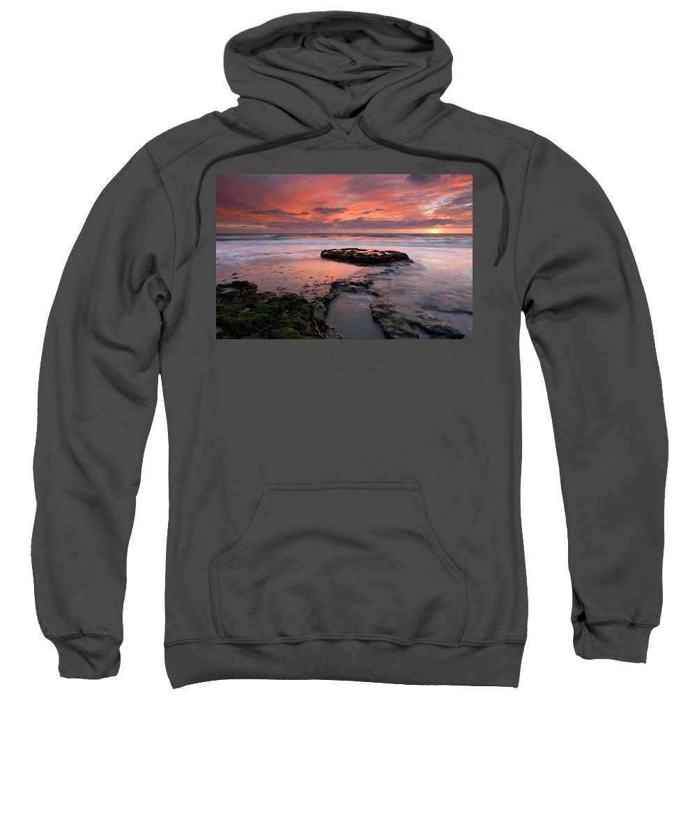 Sunset Sweatshirt featuring the photograph Isle Of The Setting Sun by Mike Dawson