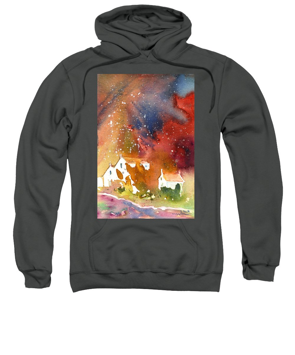 Watercolour Sweatshirt featuring the painting It Is Always Snowing Somewhere 01 by Miki De Goodaboom