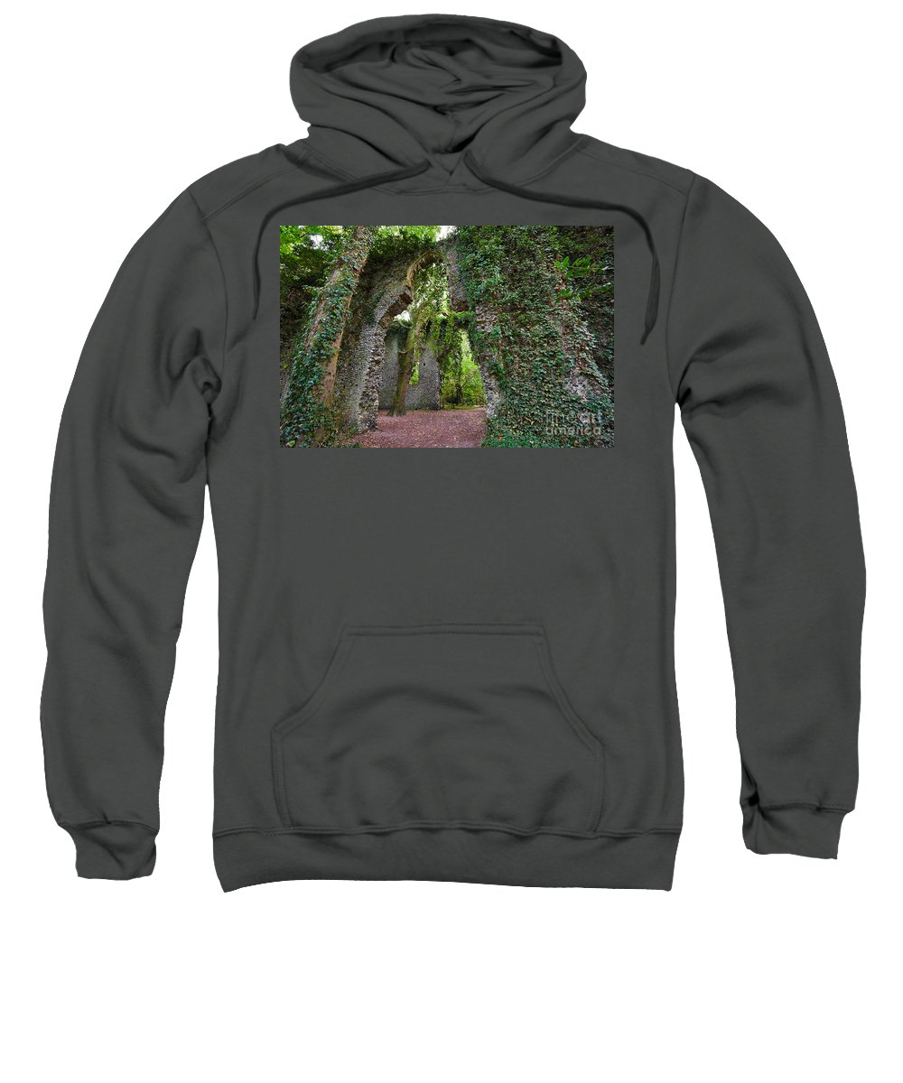 Travel Sweatshirt featuring the photograph Ivy Clad Ruin by Louise Heusinkveld