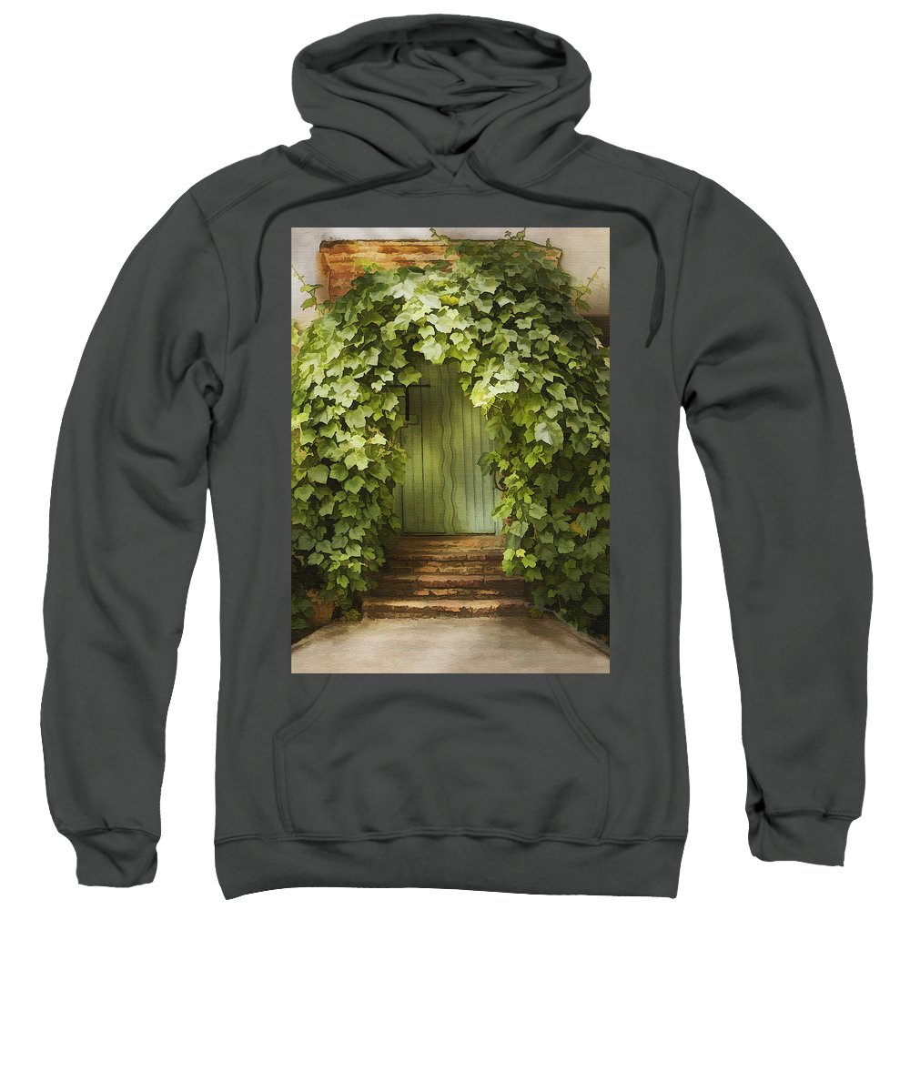 Architecture Sweatshirt featuring the photograph Ivy Door by Sharon Foster
