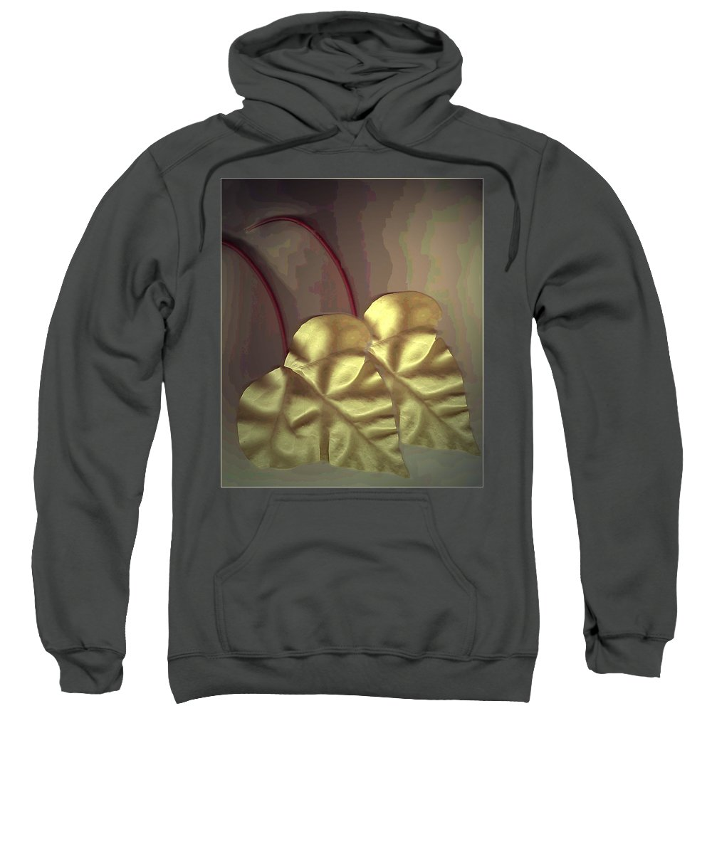 Ivy Sweatshirt featuring the photograph Ivy Heart by Joyce Dickens