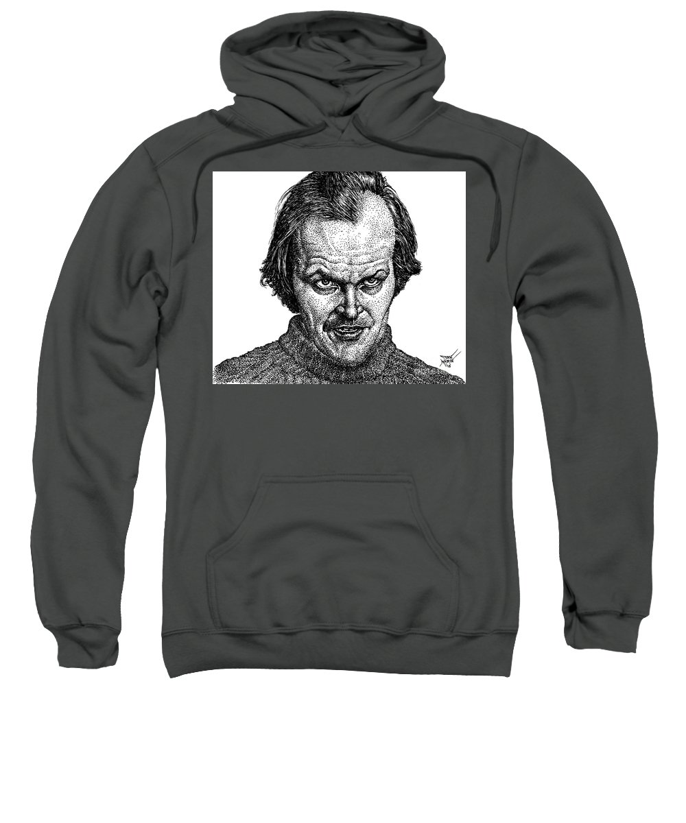 Jack Sweatshirt featuring the drawing Jack by Dan Moran