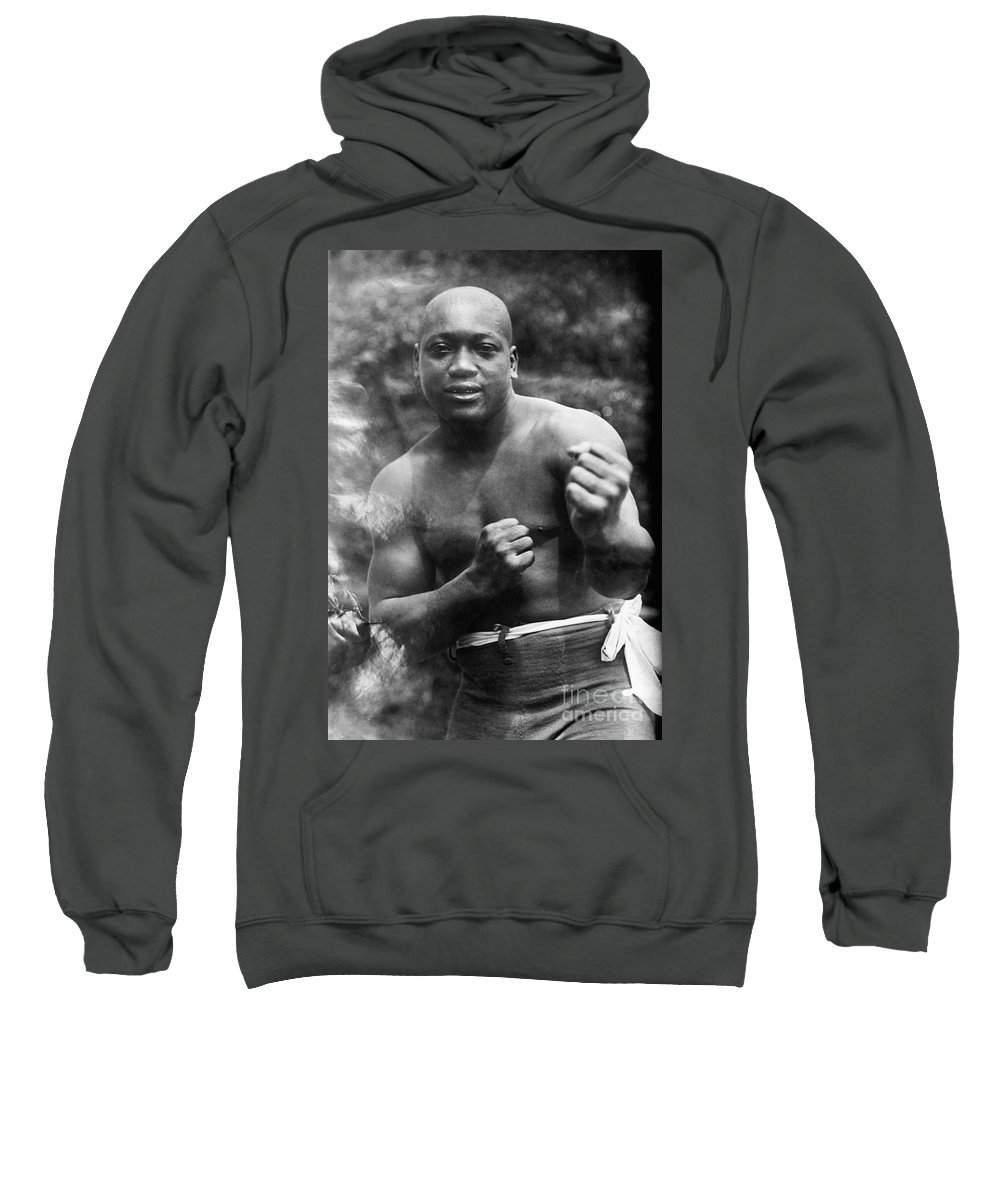 1910s Sweatshirt featuring the photograph Jack Johnson (1878-1946) by Granger