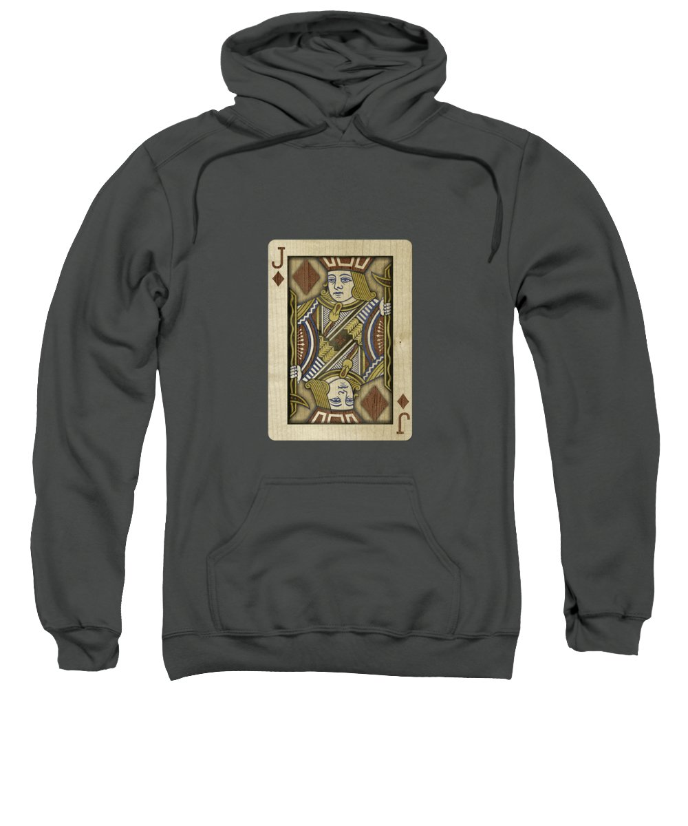 Game Sweatshirt featuring the photograph Jack of Diamonds in Wood by YoPedro