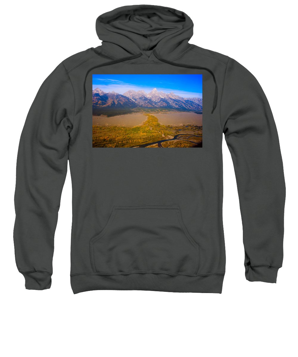 Tetons Sweatshirt featuring the photograph Jackson Hole Wy Tetons National Park Views by James BO Insogna