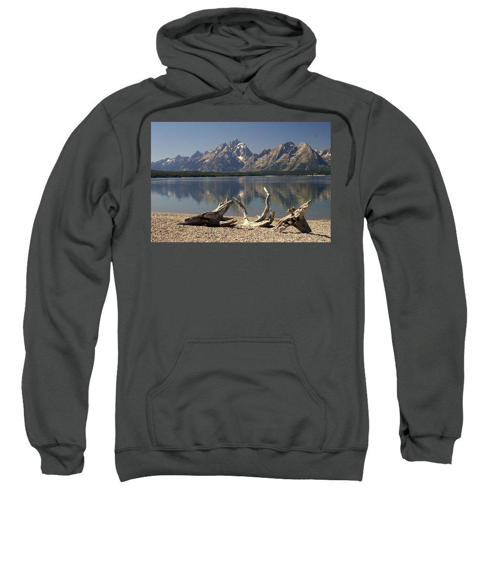 Grand Teton National Park Sweatshirt featuring the photograph Jackson Lake 1 by Marty Koch