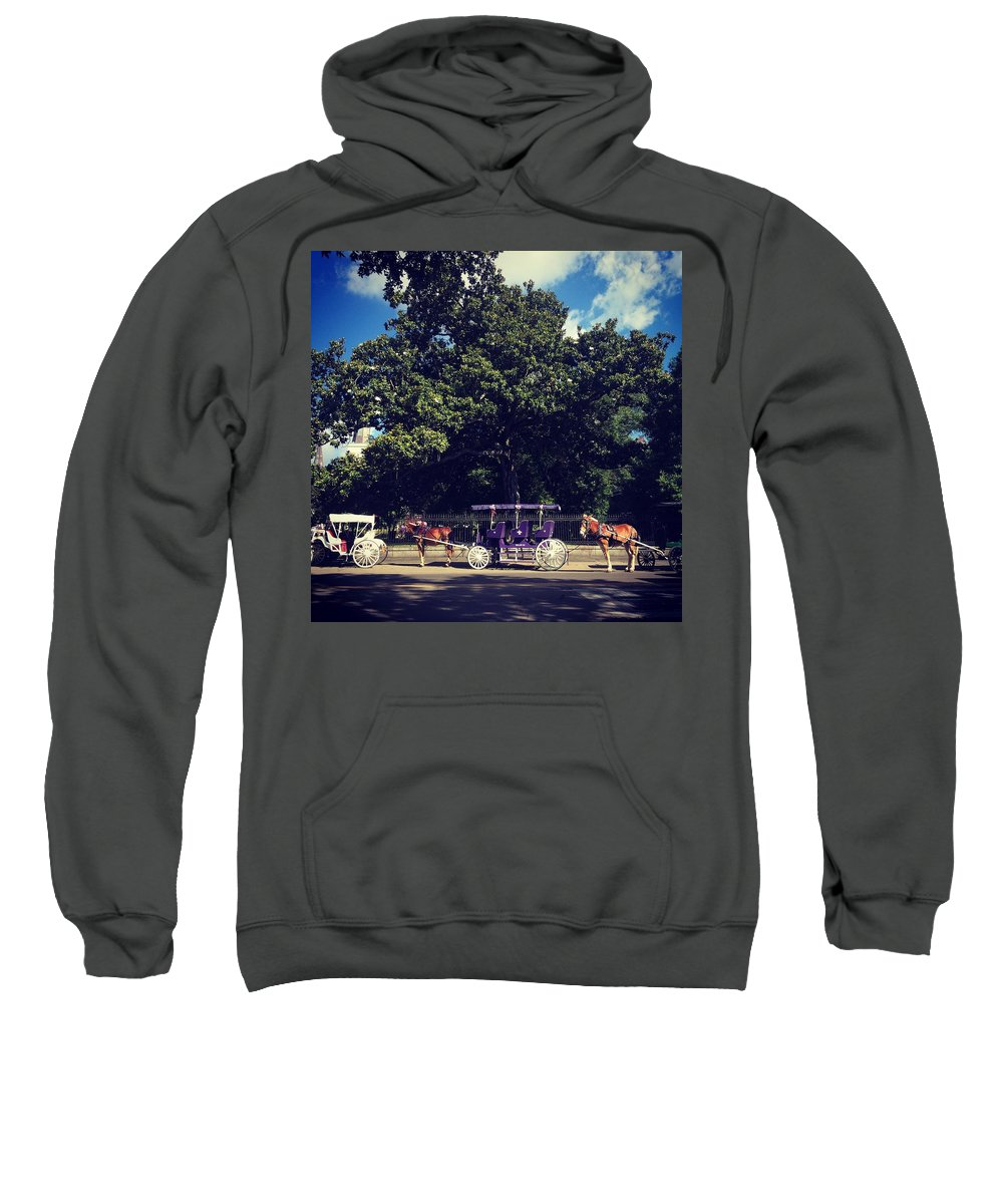 Carriage Sweatshirt featuring the photograph Jackson Square Carriages by Dana Brown