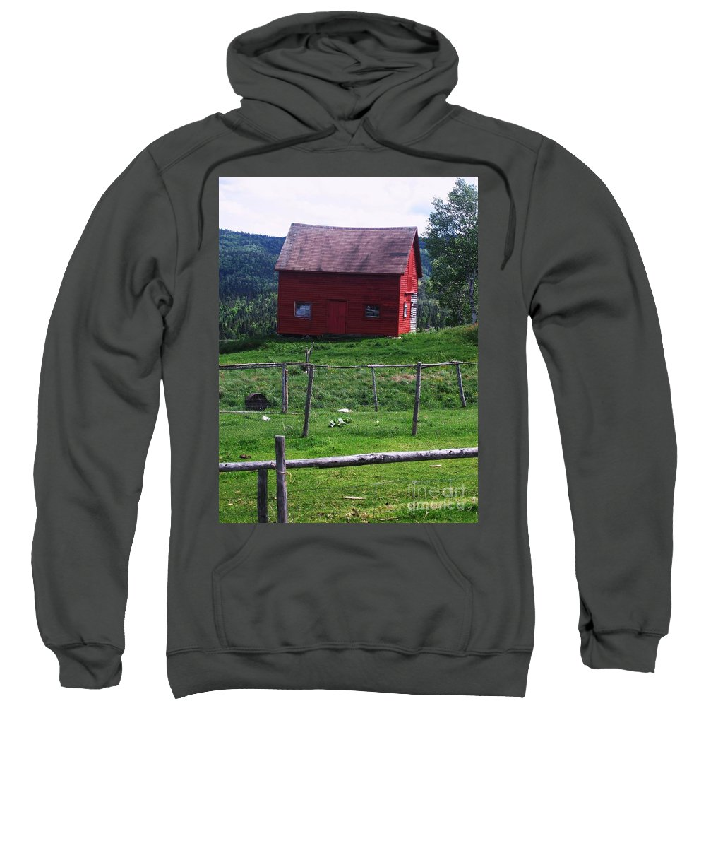 Photograph Newfoundland Jackson Cove Boat Grass Sweatshirt featuring the photograph Jackson's Cove by Seon-Jeong Kim