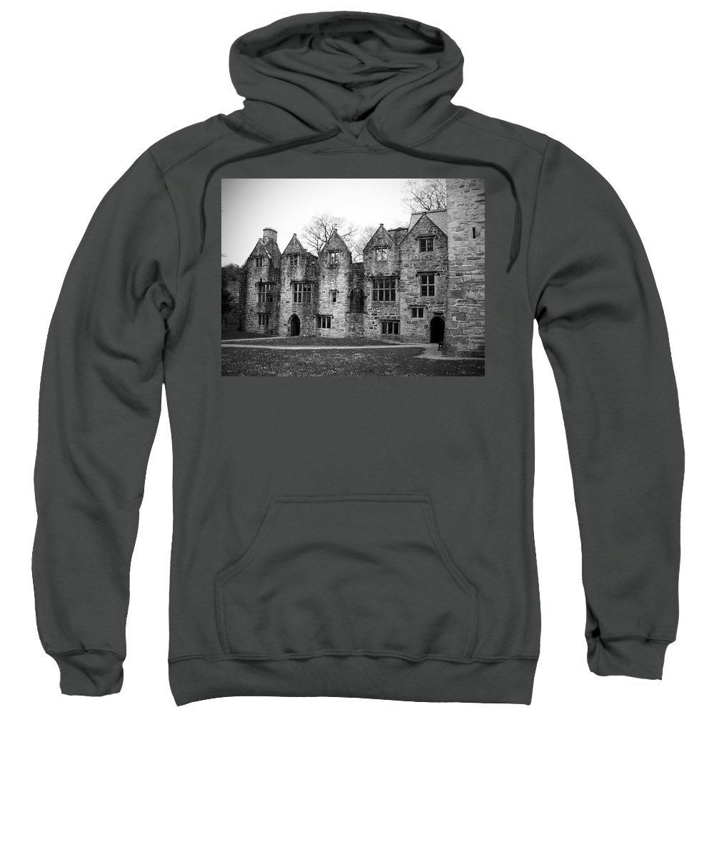 Irish Sweatshirt featuring the photograph Jacobean Wing At Donegal Castle Ireland by Teresa Mucha