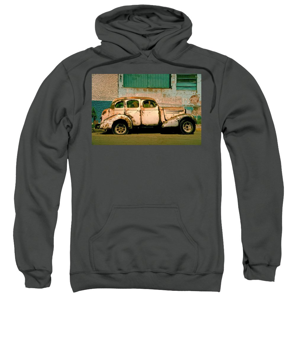 Skip Sweatshirt featuring the photograph Jalopy by Skip Hunt