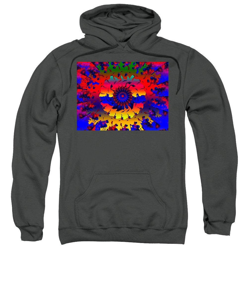 Wheel Sweatshirt featuring the digital art Jamaica Say You Will by Robert Orinski