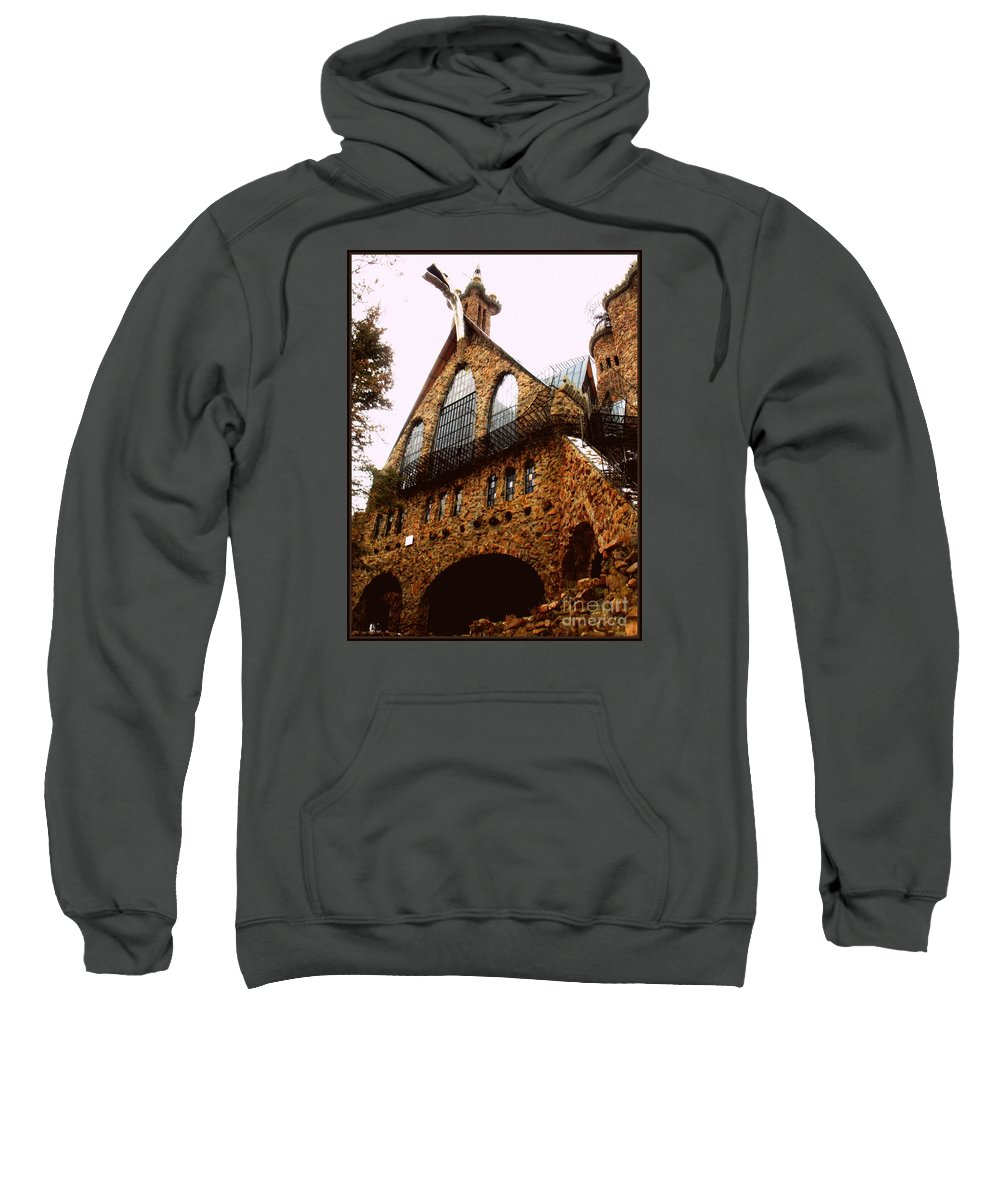 Sweatshirt featuring the photograph James Bishop's Castle by Kelly Awad