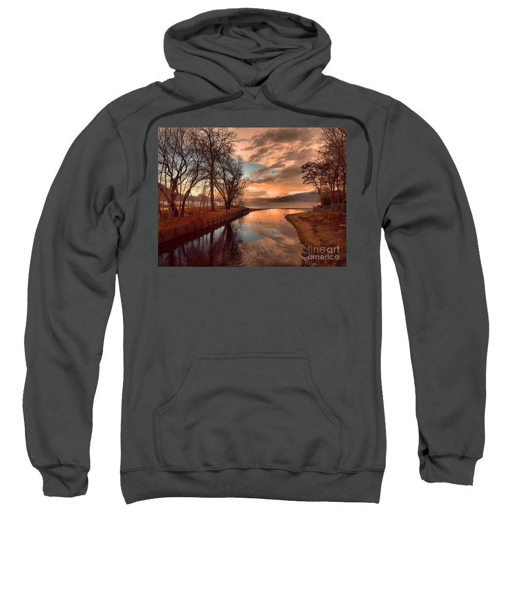 Sunset Sweatshirt featuring the photograph January 15 2010 by Tara Turner