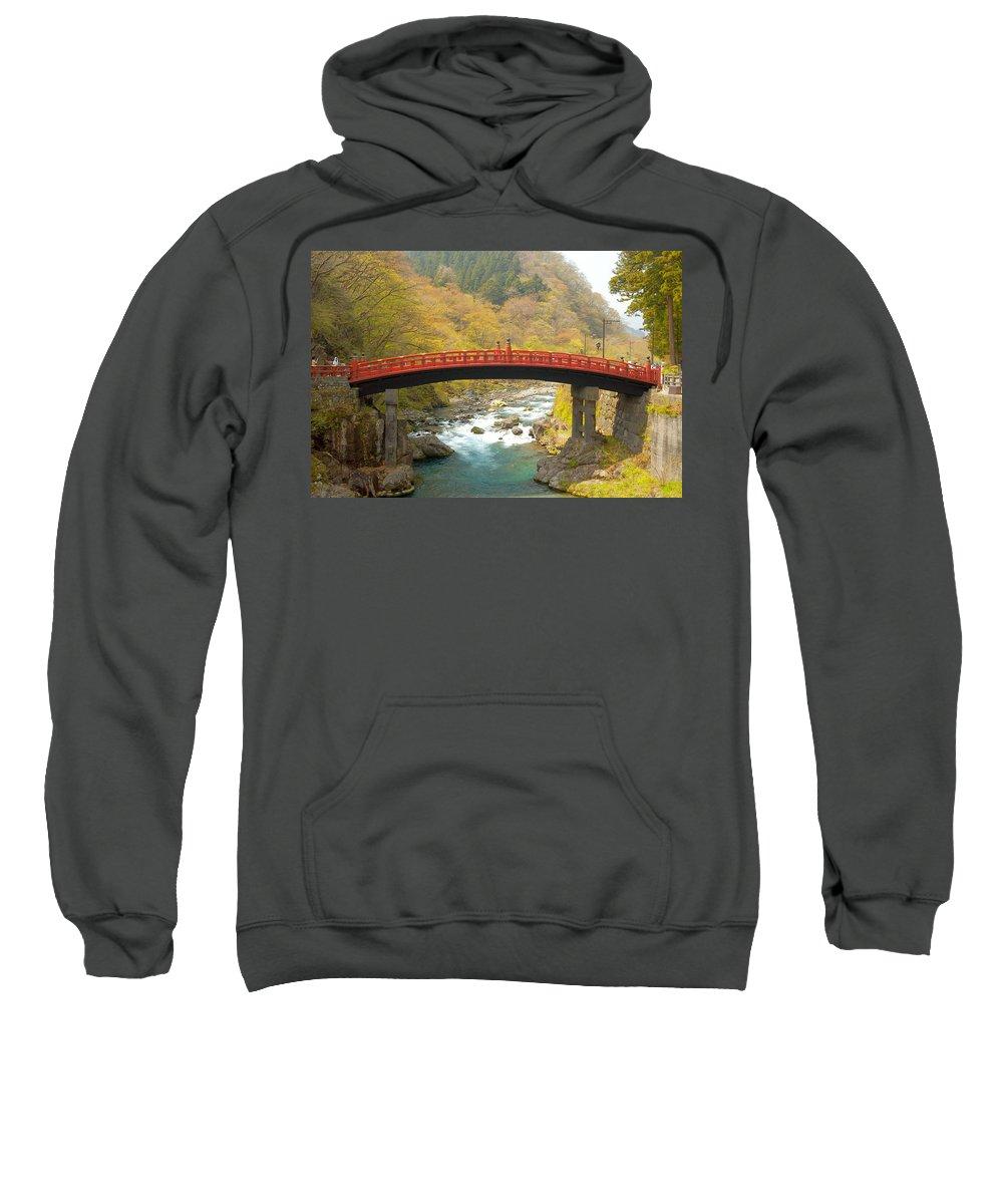 Japan Sweatshirt featuring the photograph Japanese Bridge by Sebastian Musial