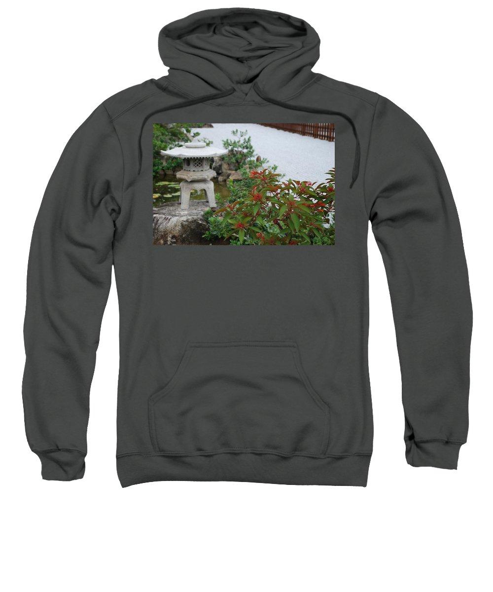 Rocks Sweatshirt featuring the photograph Japanese Garden Lantern by Rob Hans