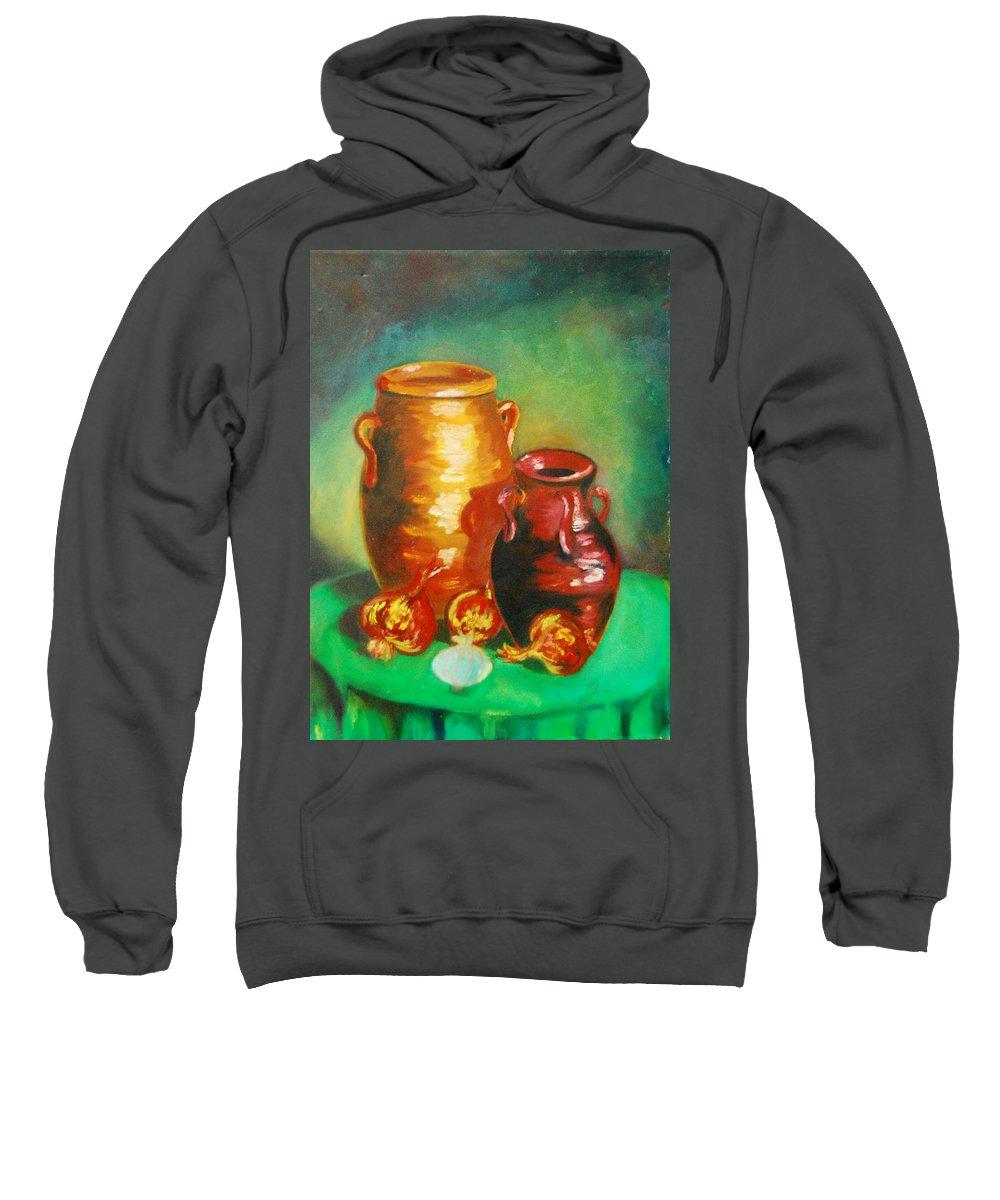 Jars Sweatshirt featuring the painting Jars by Matthew Doronila