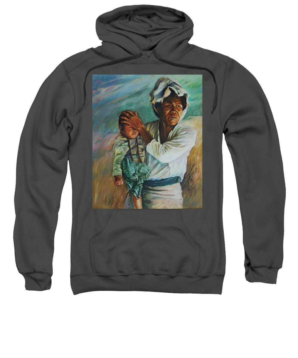 Woman Sweatshirt featuring the painting Javanese Woman by Rick Nederlof