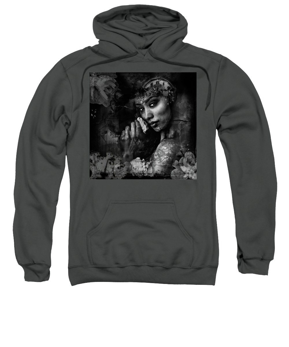 Black And White Sweatshirt featuring the photograph Jazmine by Allyson Schwartz