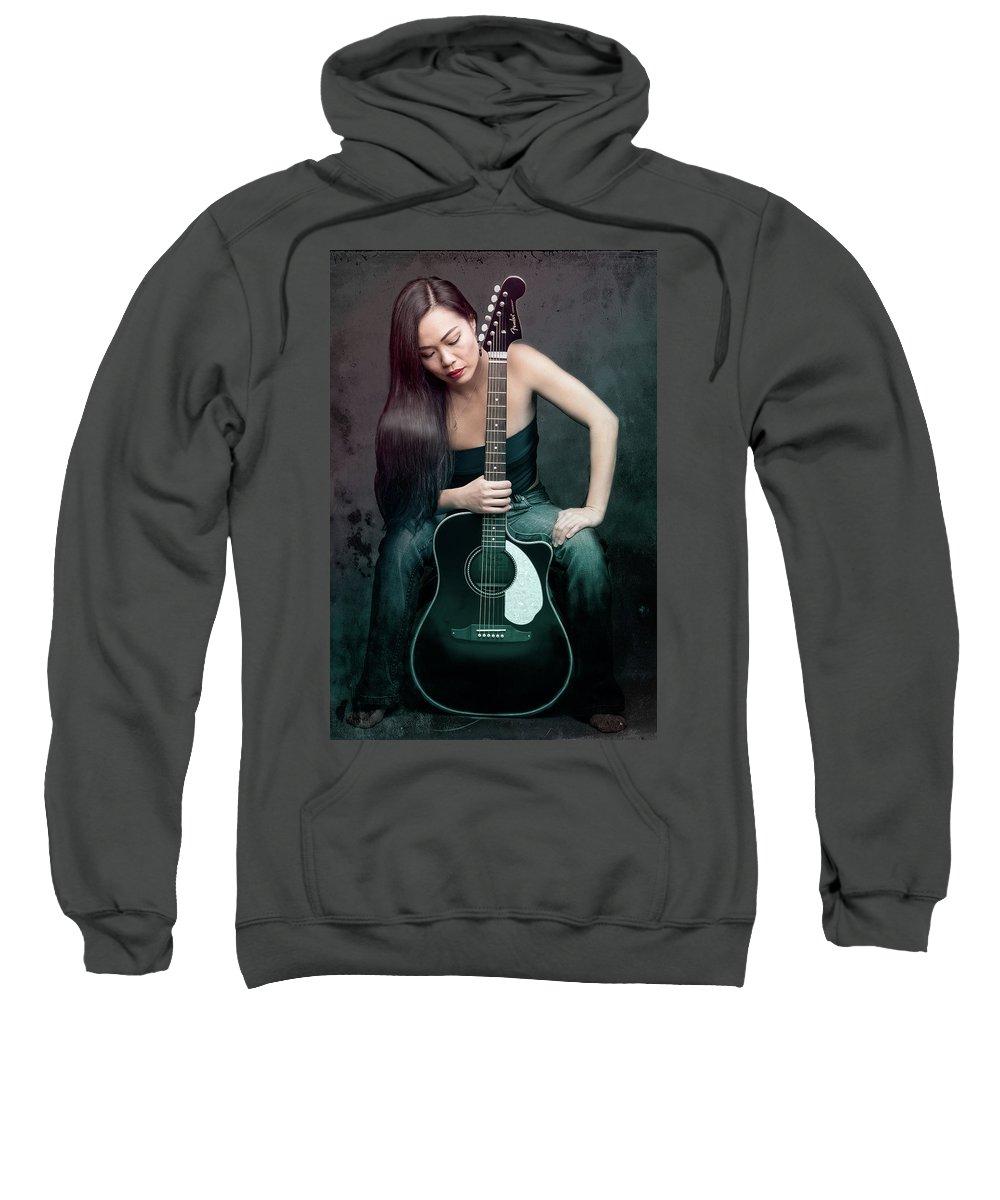 Guitarist Sweatshirt featuring the photograph Jeanice by David Cameron