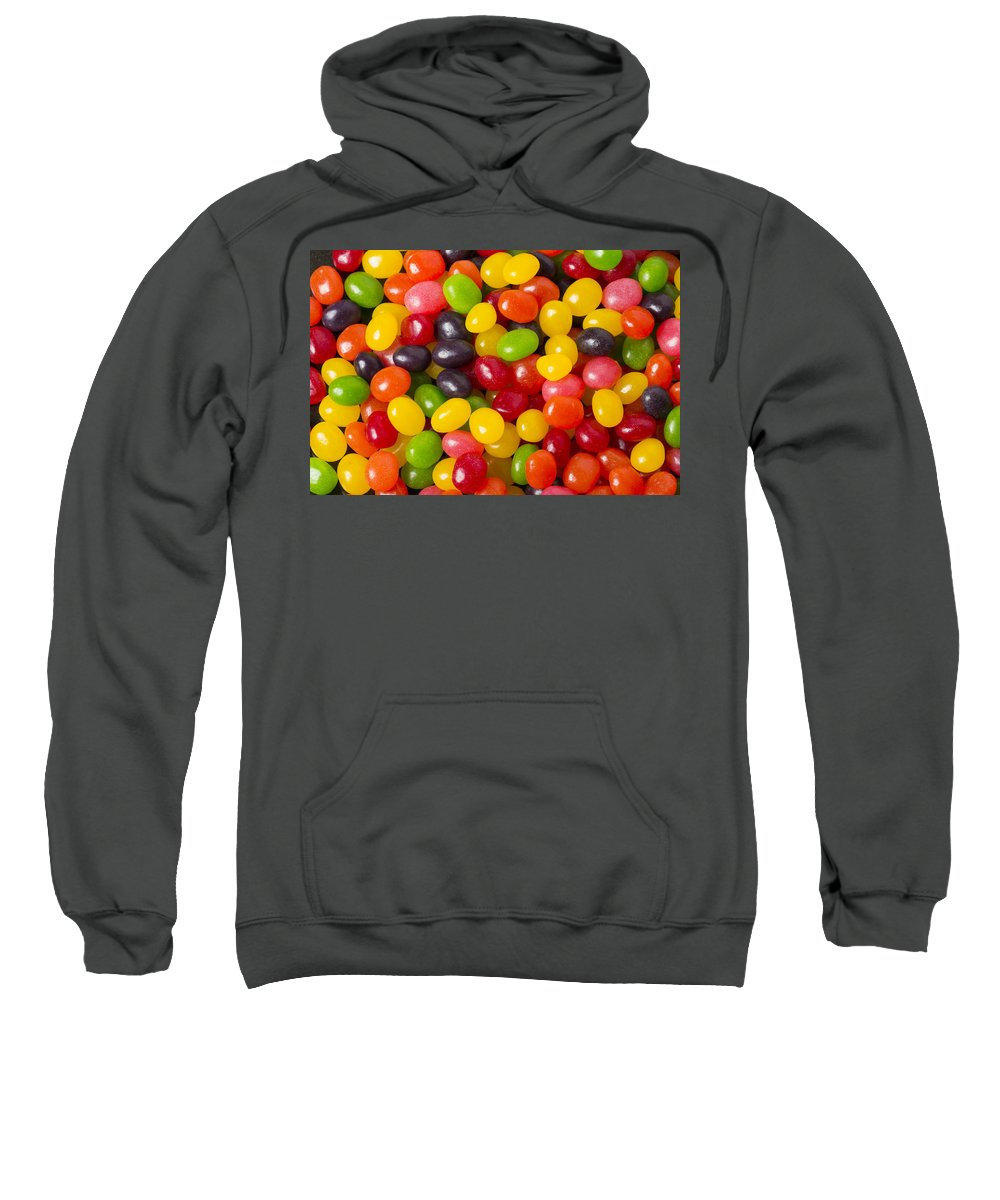 Food Sweatshirt featuring the photograph Jelly Beans by John Trax