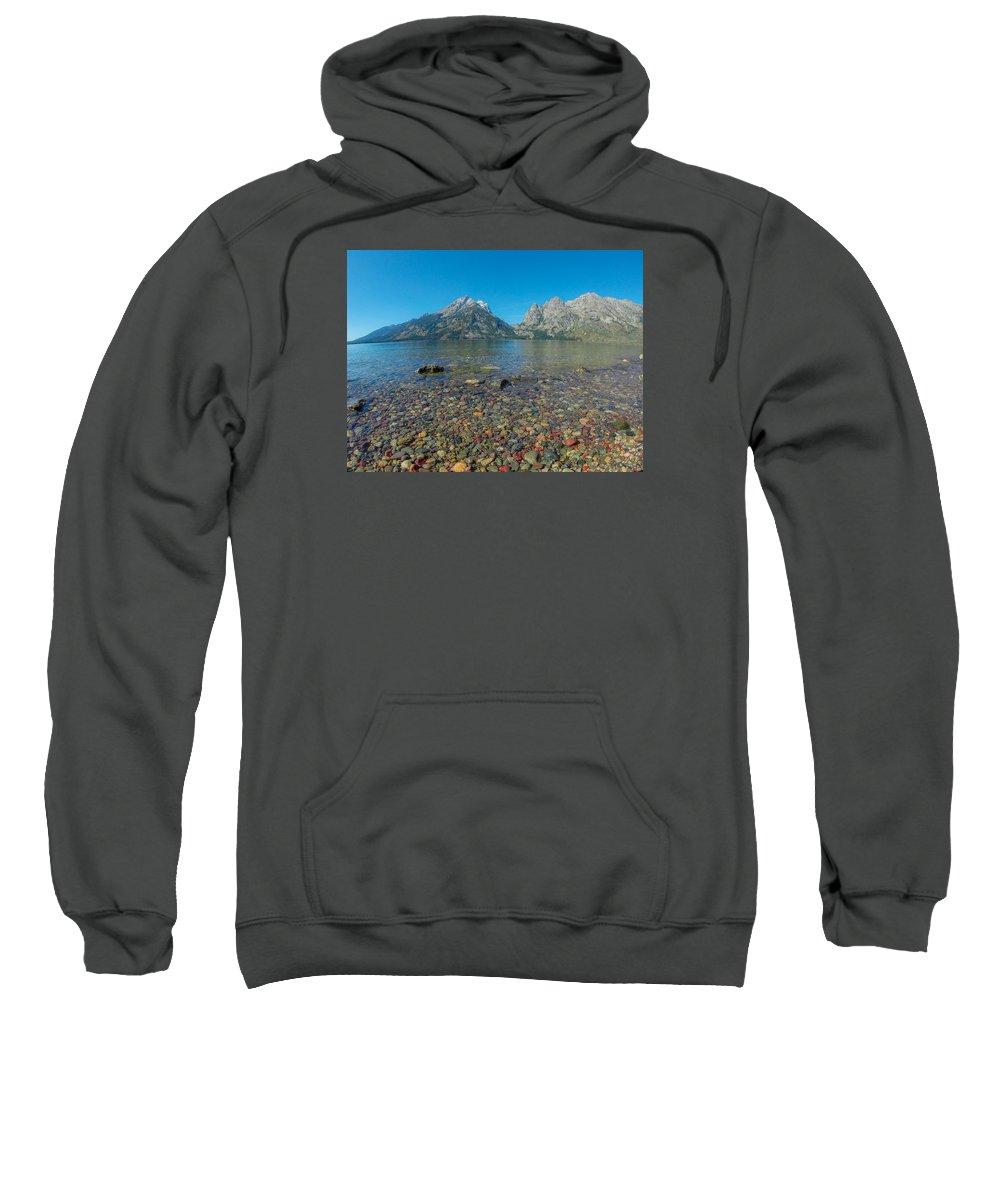 Jenny Lake Sweatshirt featuring the photograph Jenny Lake by Megan Martens