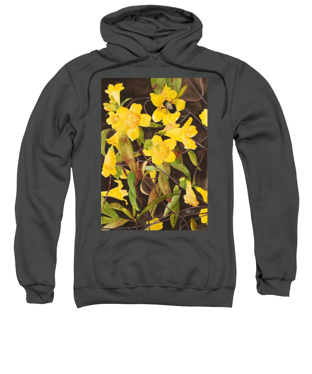 Flowers Sweatshirt featuring the painting Jessamine Jungle by Jean Blackmer
