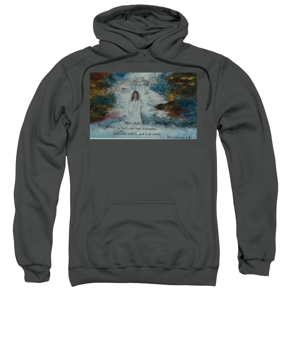 Heaven Sweatshirt featuring the painting Jesus by Sandra Morningstar