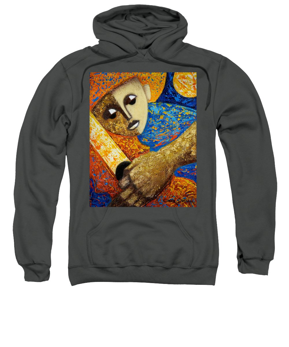 Color Sweatshirt featuring the painting Jibaro Y Sol by Oscar Ortiz