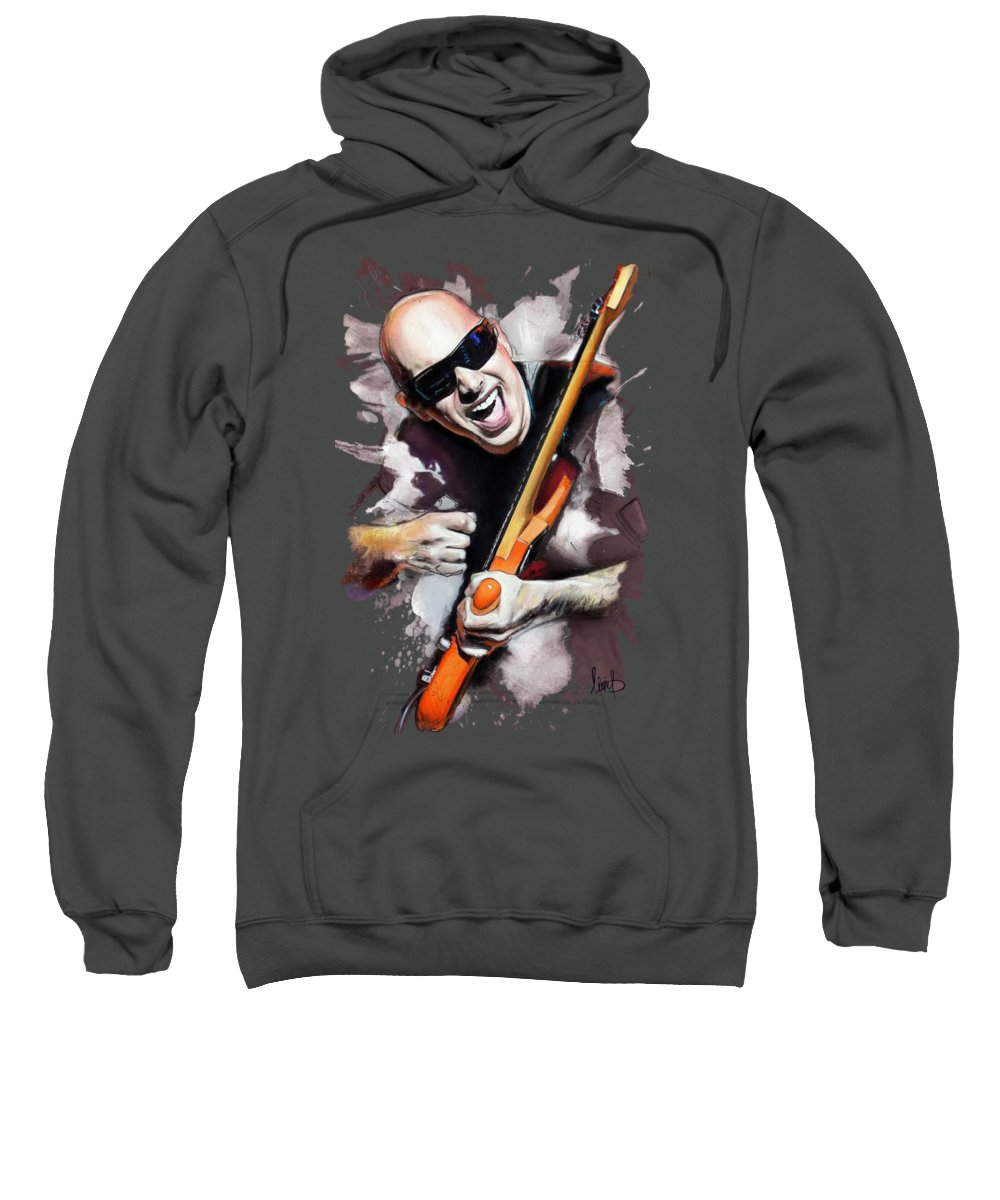 Joe Satriani Sweatshirt featuring the pastel Joe Satriani by Melanie D