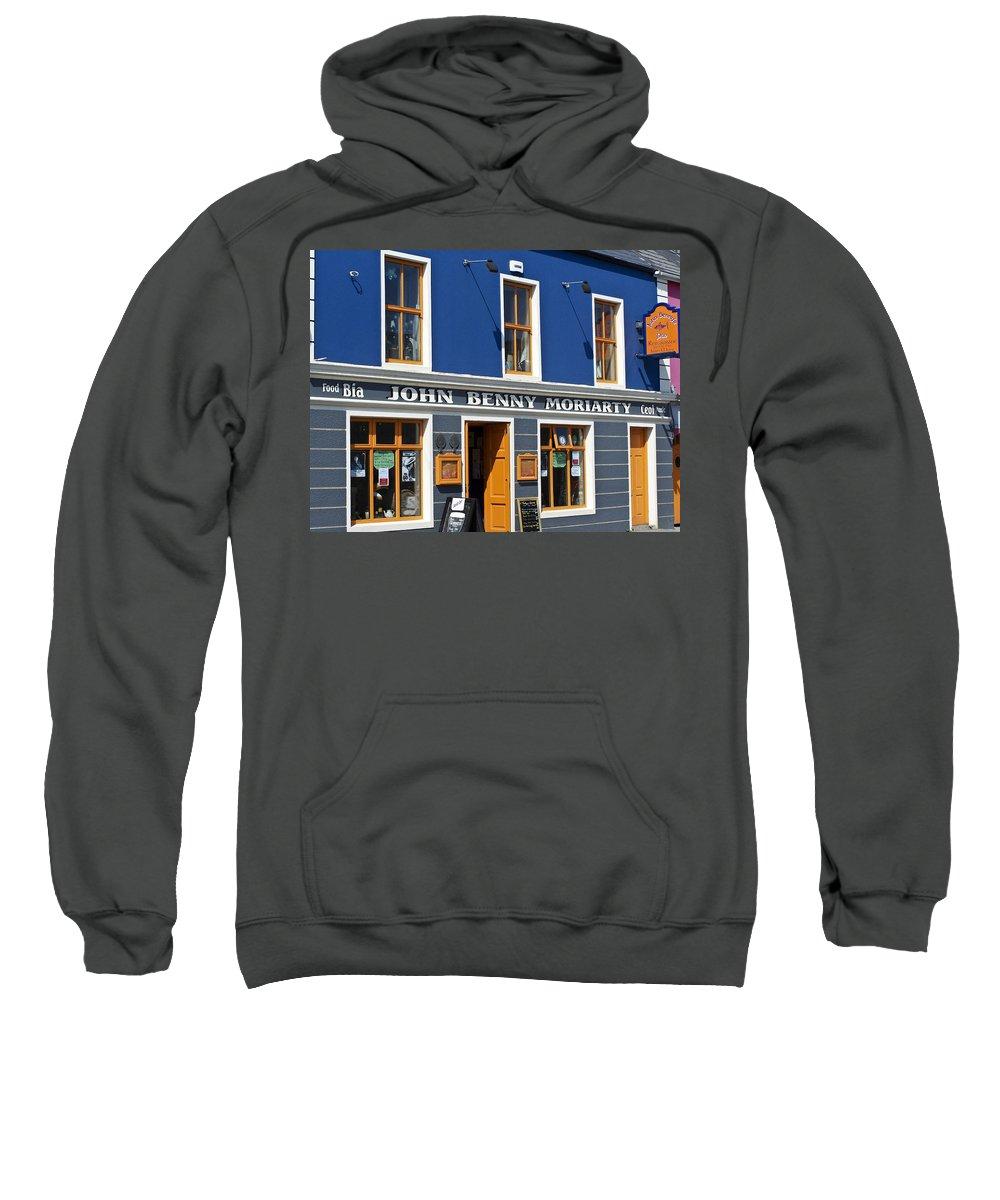 Irish Sweatshirt featuring the photograph John Benny by Teresa Mucha
