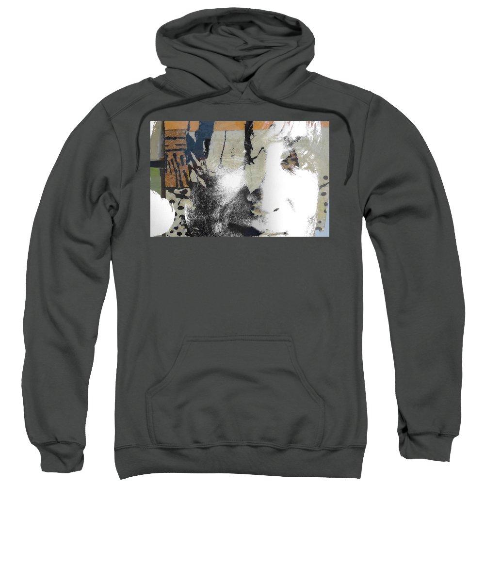 The Beatles Sweatshirt featuring the digital art John Lennon - In My Life by Paul Lovering