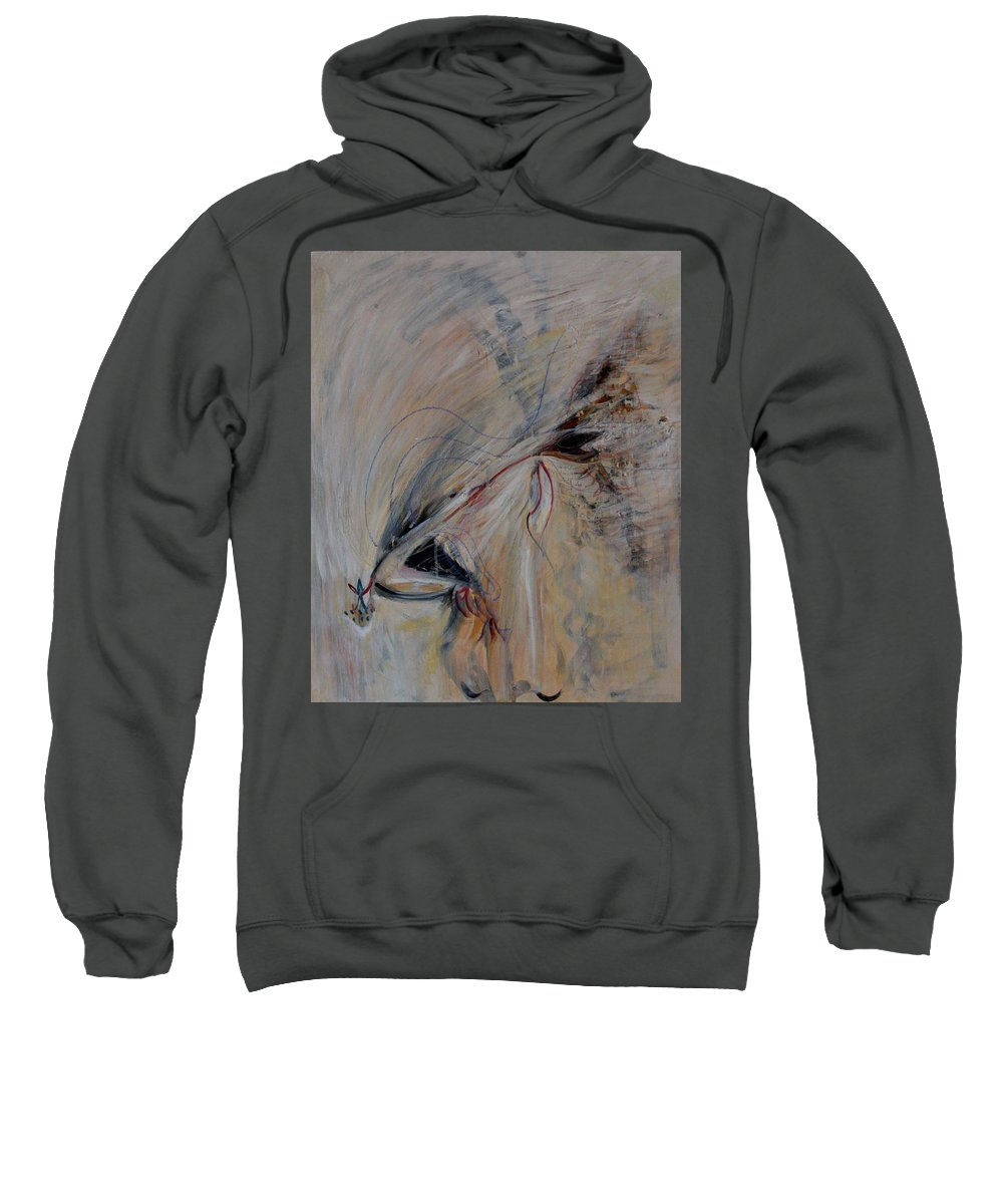 Sacred Sweatshirt featuring the painting Journey by Alexander Carletti