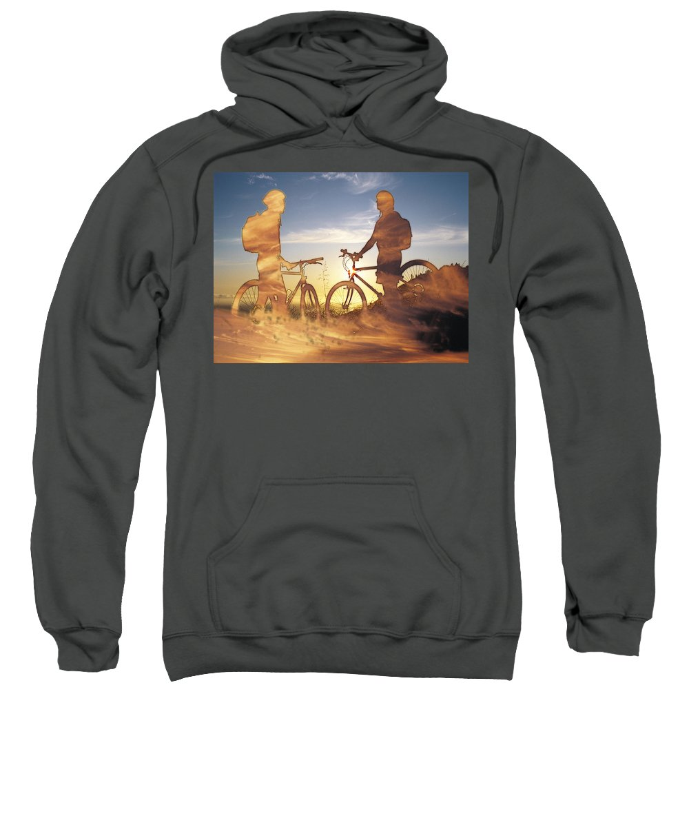 Clouds Sweatshirt featuring the photograph Journeys End by Tim Allen
