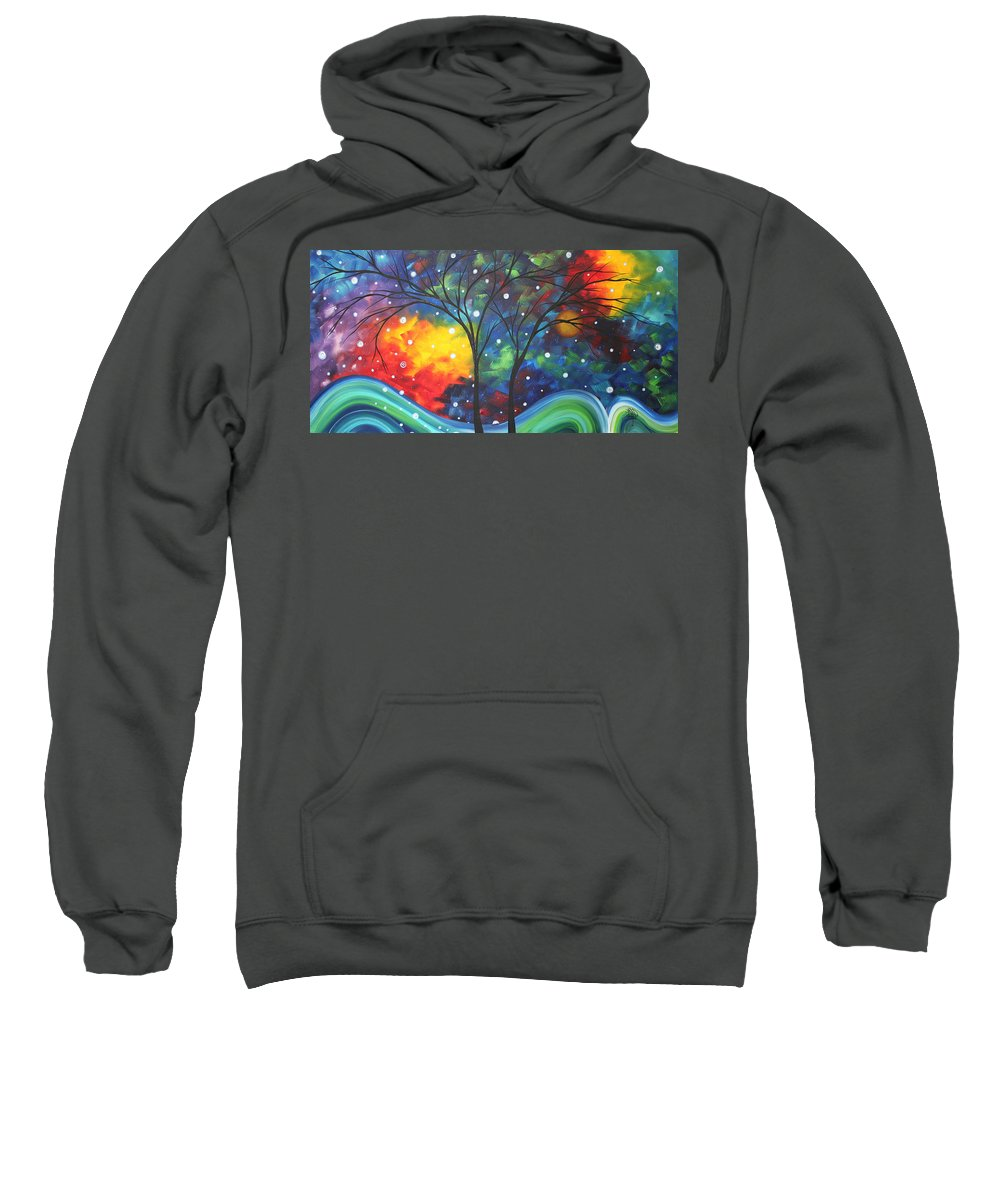 Abstract Sweatshirt featuring the painting Joy By Madart by Megan Duncanson