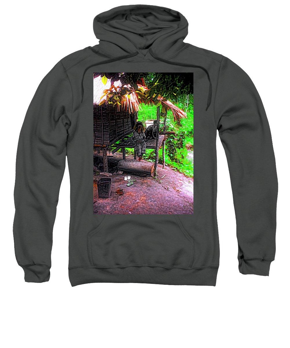 Couple Sweatshirt featuring the photograph Jungle Life by Steve Harrington
