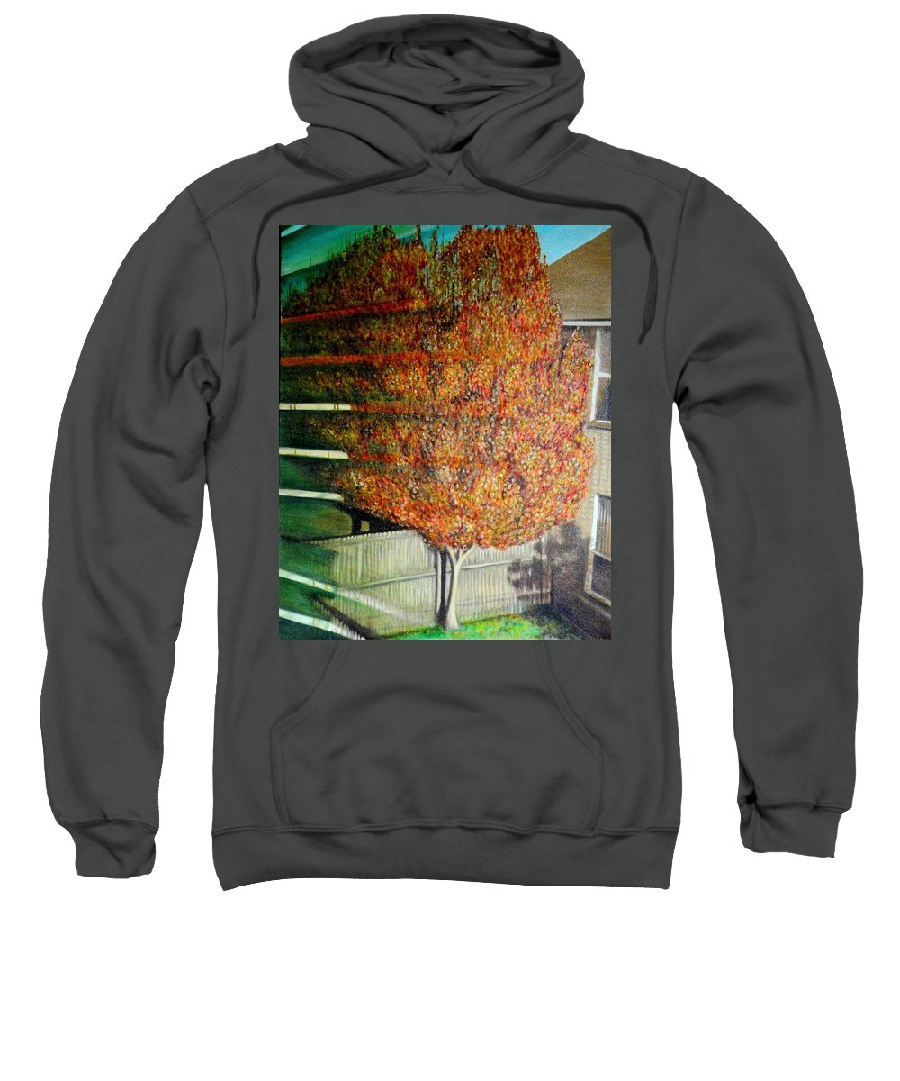 Fall Sweatshirt featuring the painting Just Before Fall by Usha Shantharam