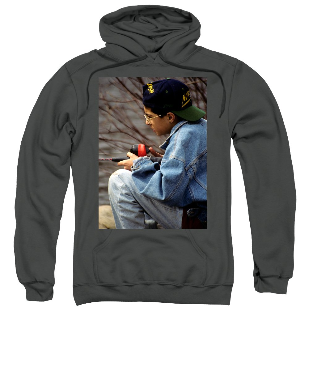 Fishing Sweatshirt featuring the photograph Just Fishin by Laurie Paci
