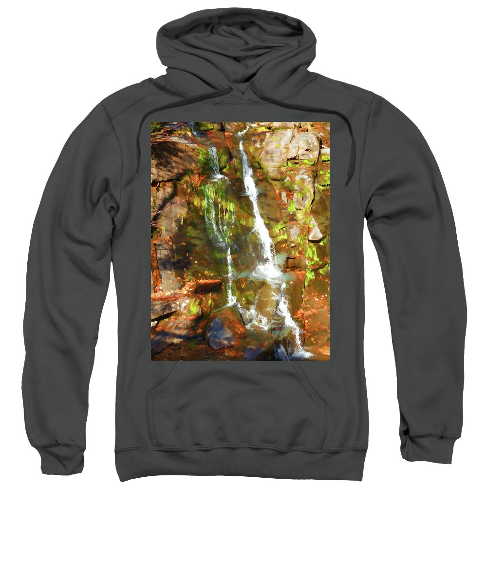 Adventure Sweatshirt featuring the painting Gentle Drops Of Love by Jeelan Clark