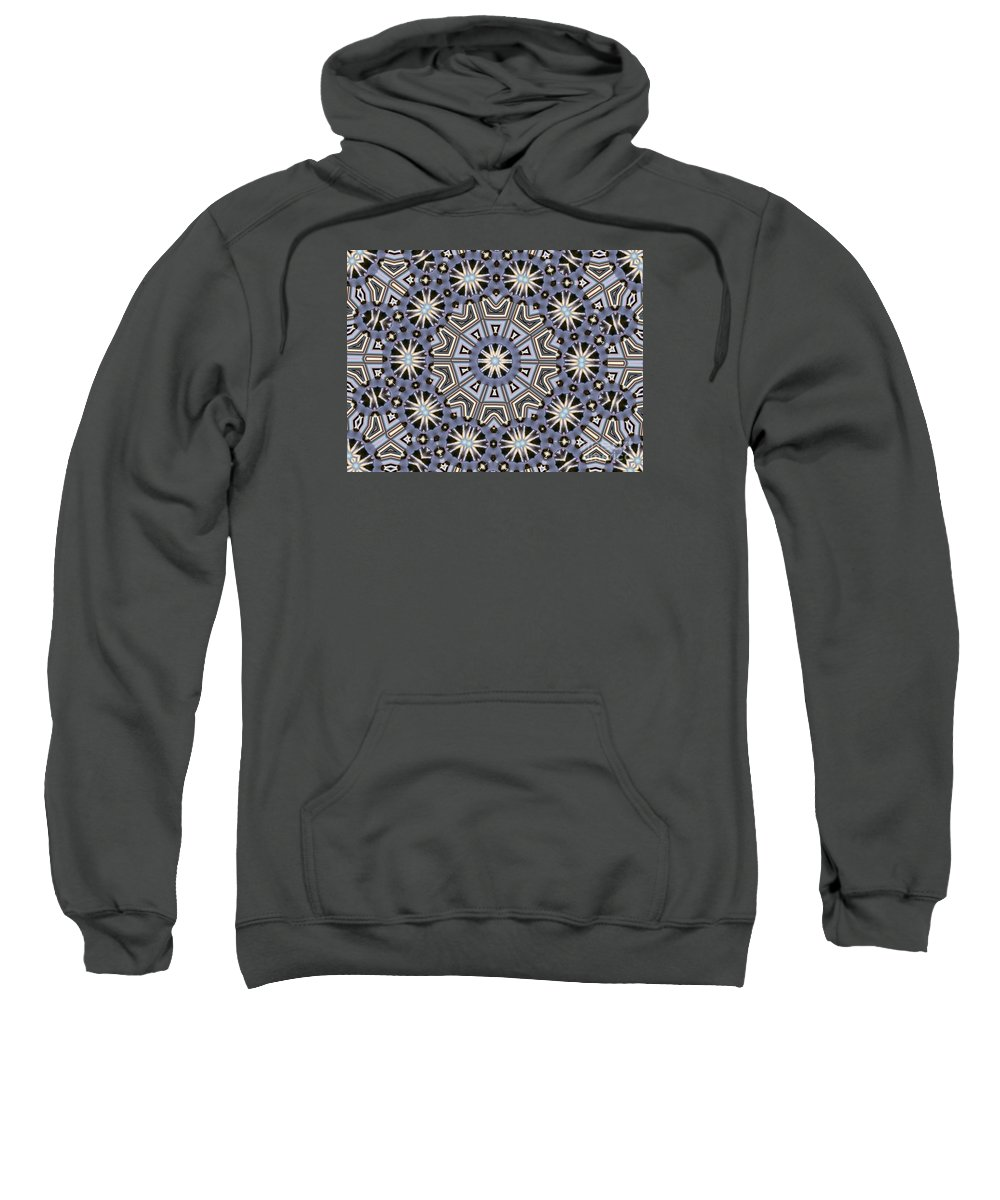 Kaleidoscope Sweatshirt featuring the digital art Kaleidoscope 104 by Ron Bissett