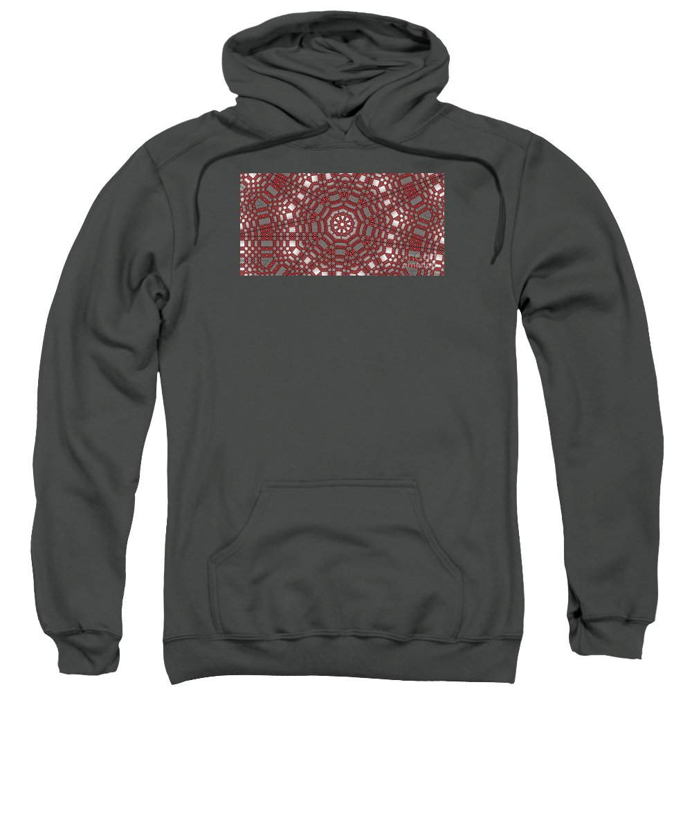 Kaleidoscope Sweatshirt featuring the digital art Kaleidoscope 95 by Ron Bissett