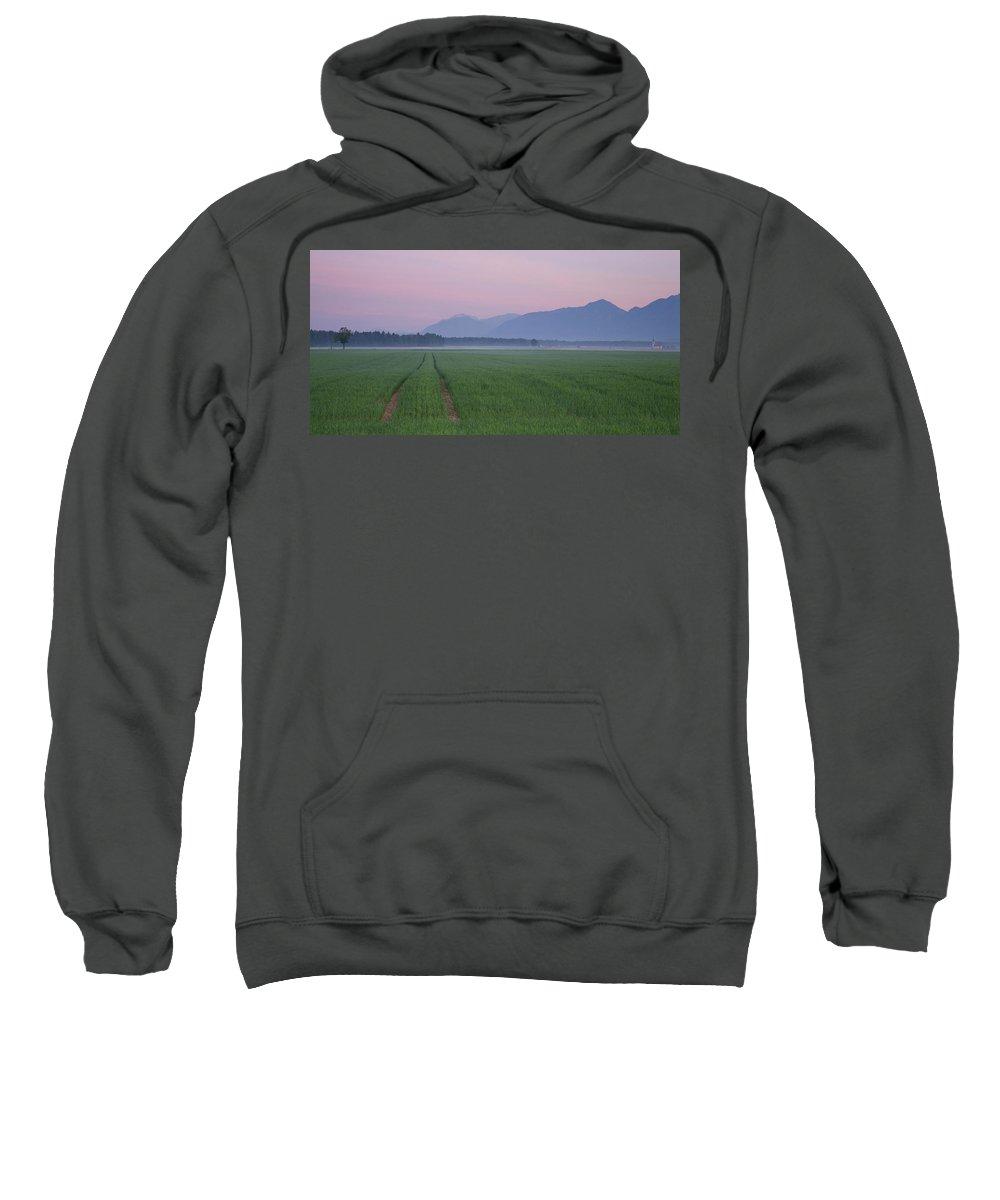 Brnik Sweatshirt featuring the photograph Kamnik Alps At Dawn by Ian Middleton