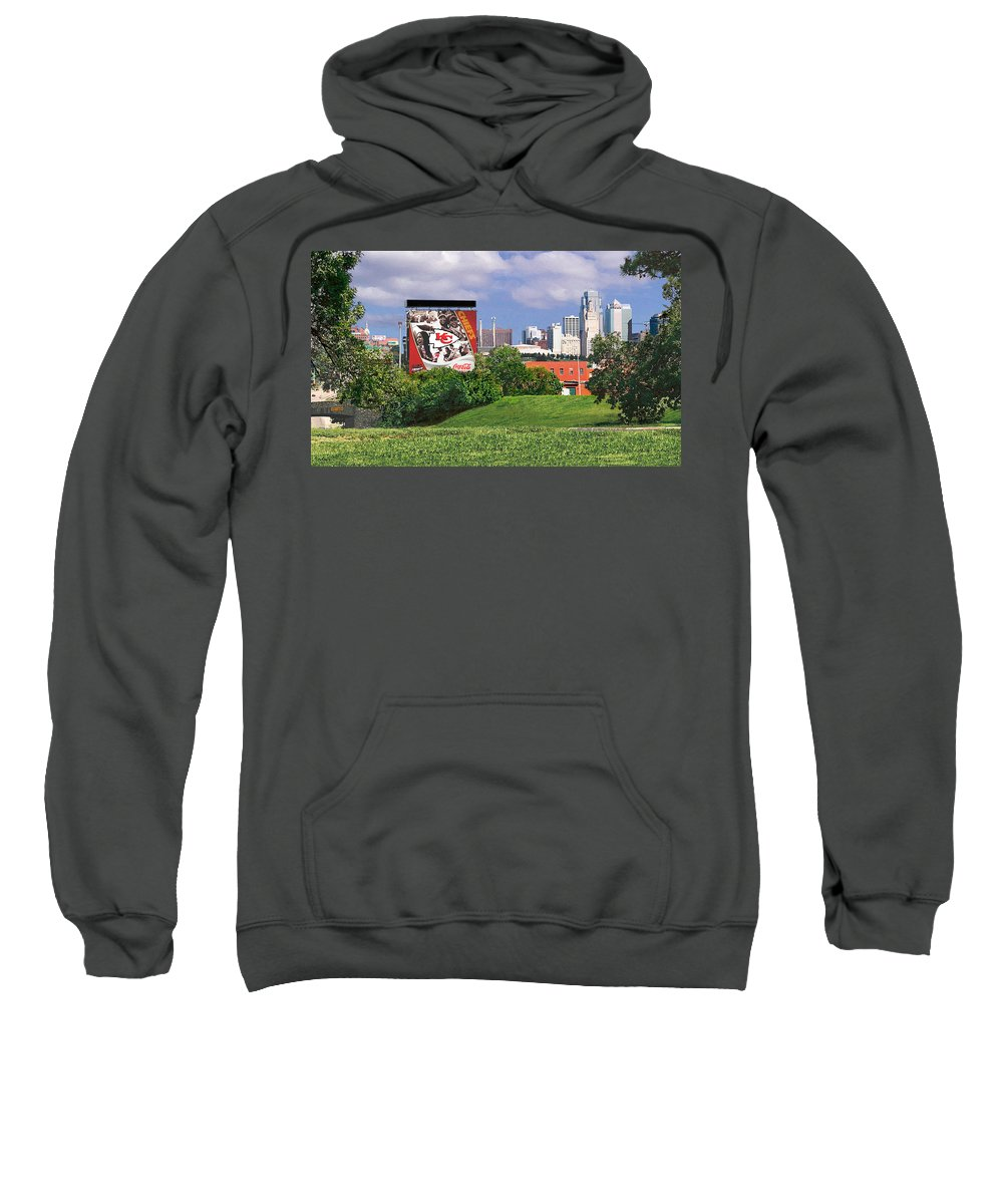 Landscape Sweatshirt featuring the photograph Kansas City Sky Line by Steve Karol