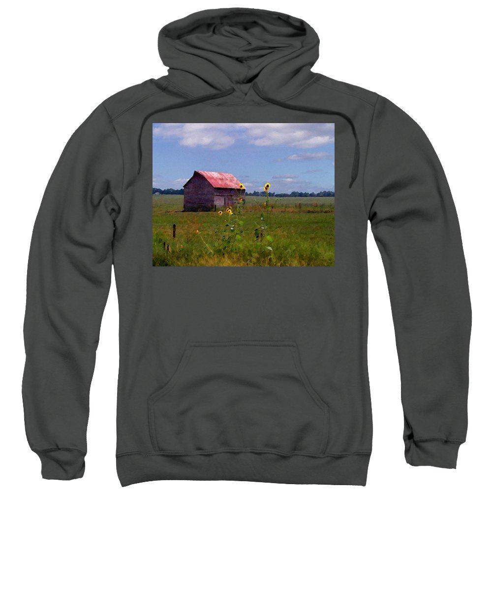 Lanscape Sweatshirt featuring the photograph Kansas Landscape by Steve Karol