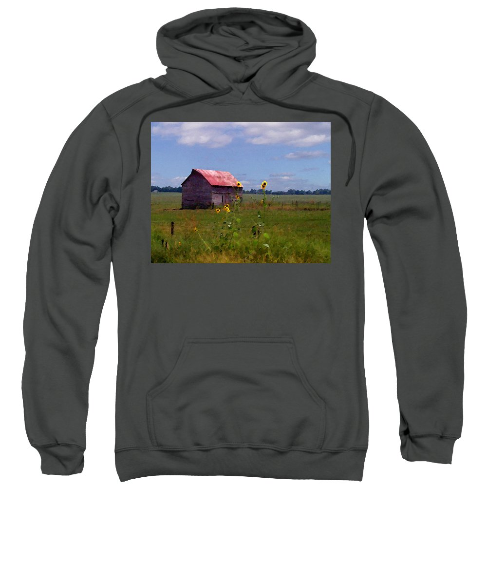 Landscape Sweatshirt featuring the photograph Kansas Landscape by Steve Karol