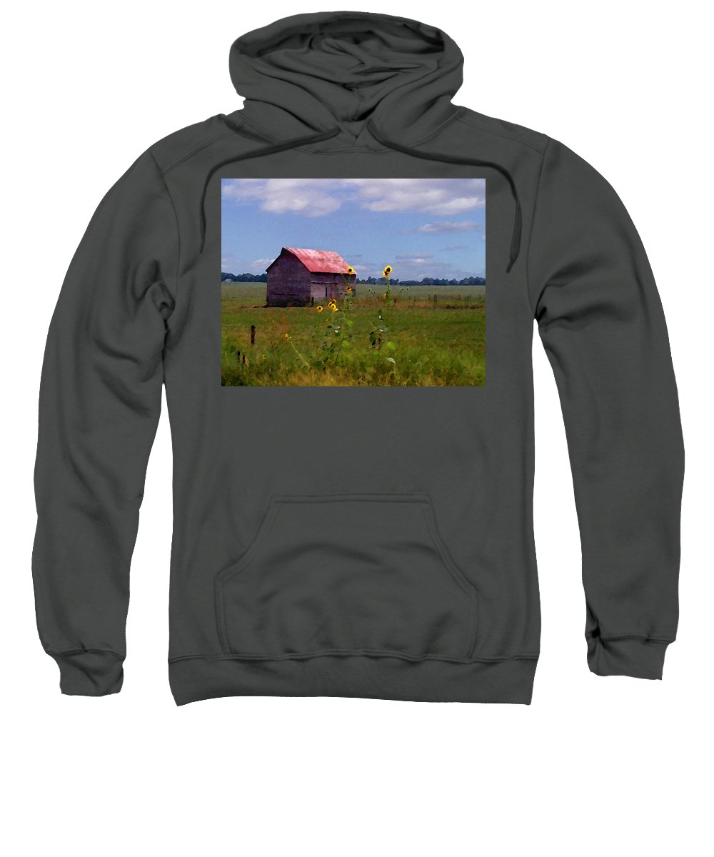 Lanscape Sweatshirt featuring the photograph Kansas Landscape by Steve Karol