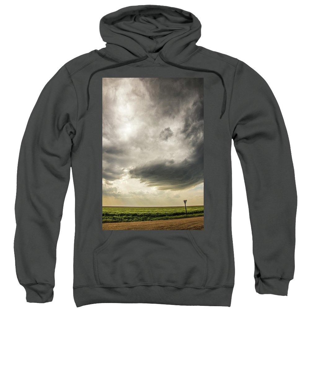 Nebraskasc Sweatshirt featuring the photograph Kansas Storm Chasing 009 by NebraskaSC