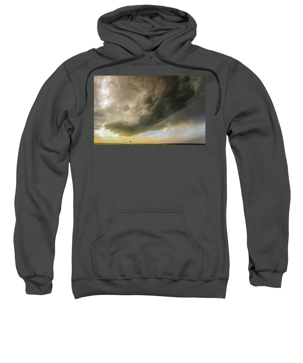 Nebraskasc Sweatshirt featuring the photograph Kansas Storm Chasing 010 by NebraskaSC