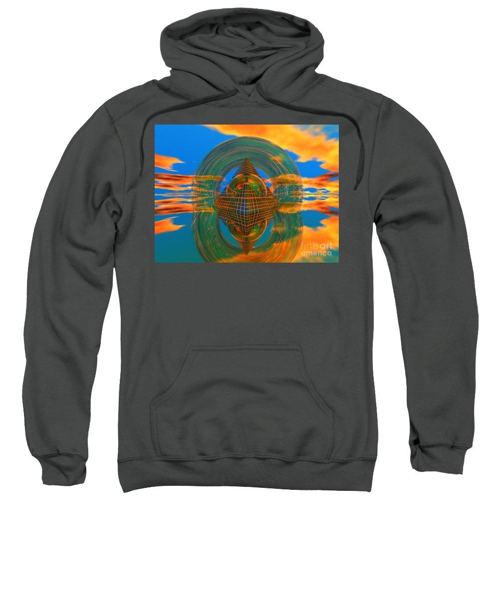 Karma Sweatshirt featuring the digital art Karma by Oscar Basurto Carbonell