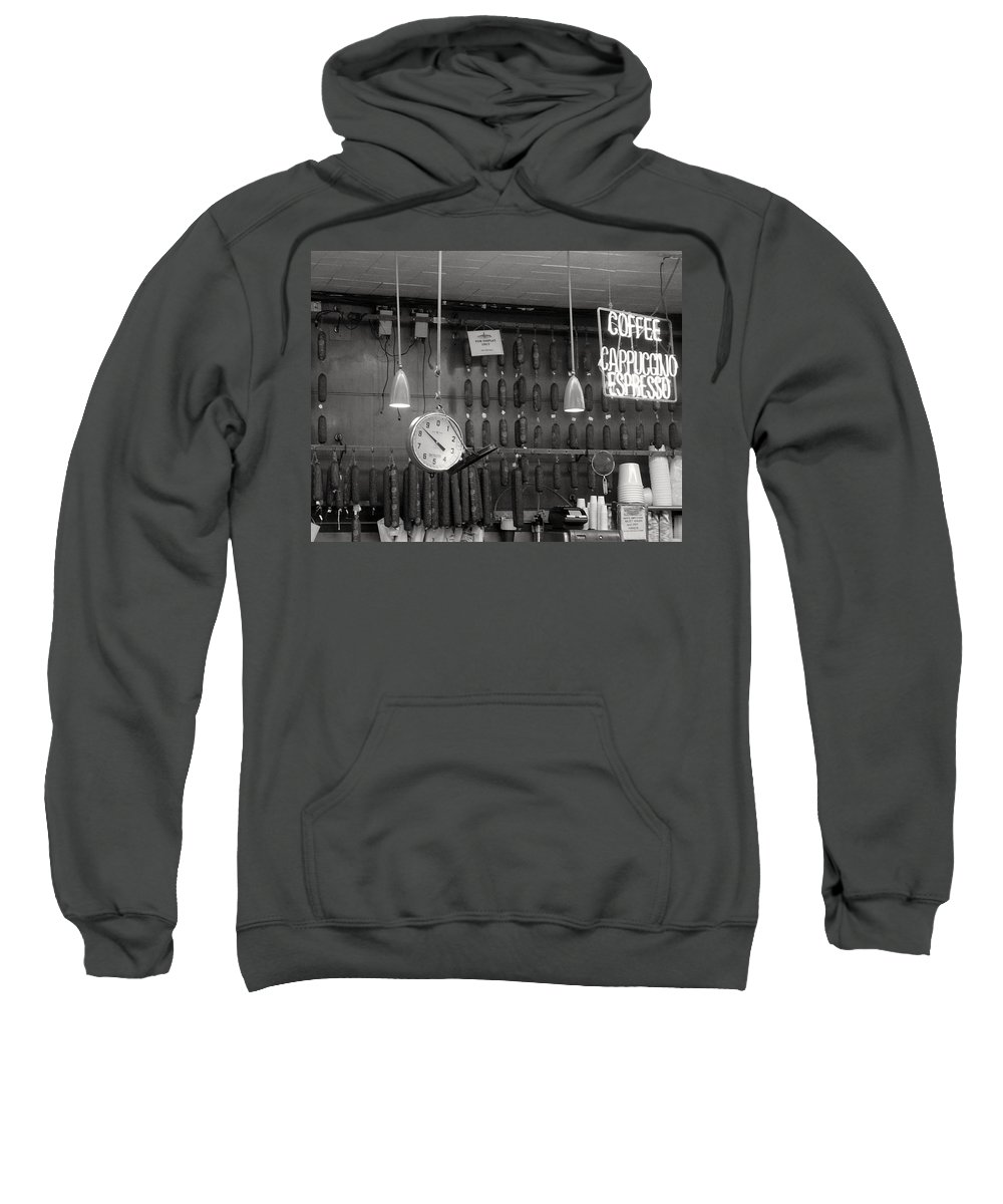 Deli Sweatshirt featuring the photograph Katz Deli by Debbi Granruth