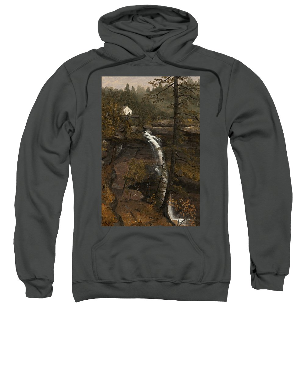 Sanford Robinson Gifford Sweatshirt featuring the painting Kauterskill Falls by Sanford Robinson Gifford